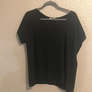 Black polyester blouse